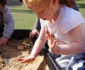 Good hand hygiene means children can play in the dirt at our Liverpool Day Nursery